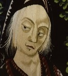 """Detail of """"Princess Di Meets a Medieval Maiden""""  1987"""
